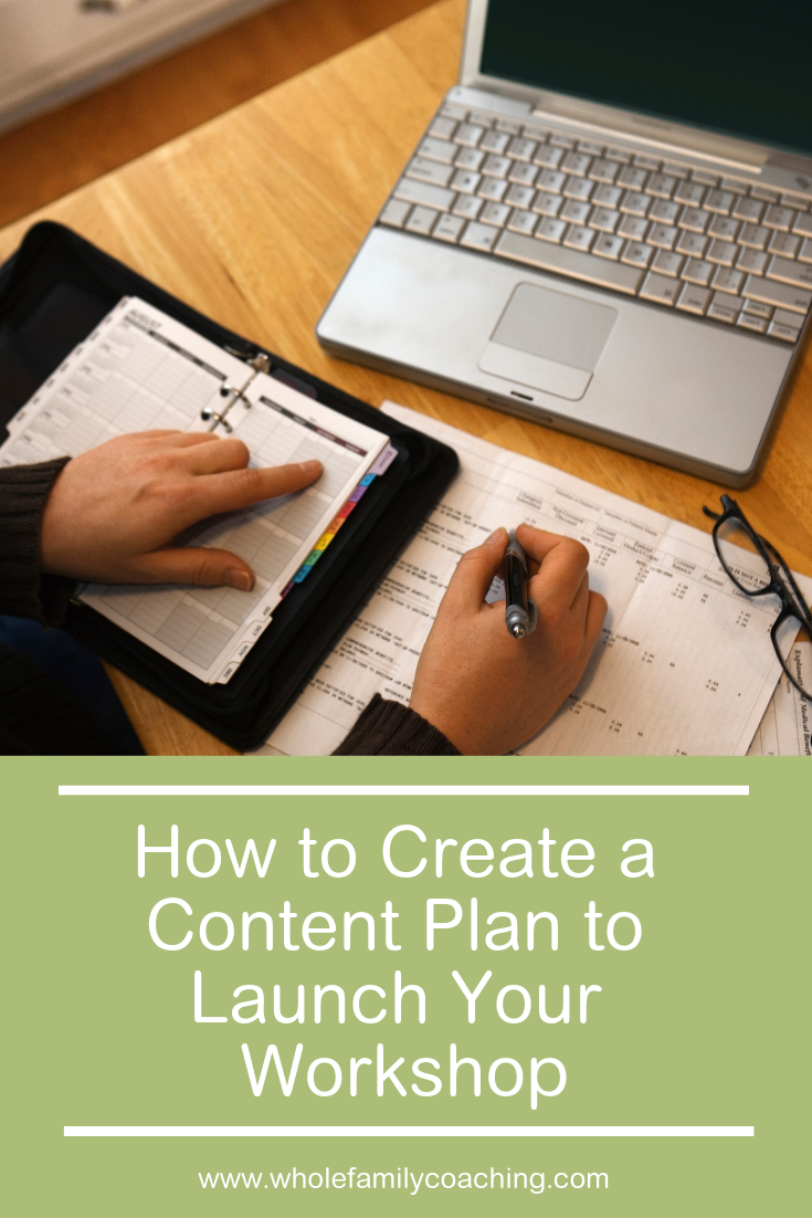 Learn how to create a content plan for your workshop using this simple, three-part formula. #onlinewellnessprograms #wellnessworkshop #healthcoaching #wellnesscoaching #healthyhabits #healthcoach