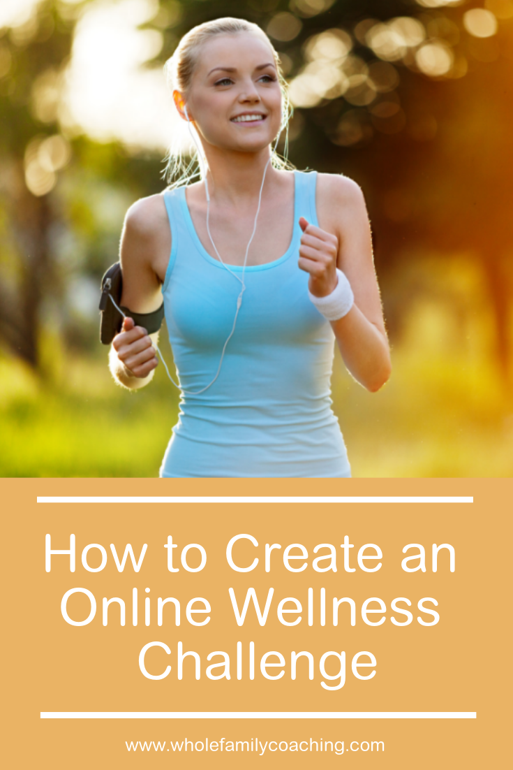 Learn how to create an online wellness challenge to bring a community together to meet their wellness goals. #onlinewellnessprograms #wellnesschallenge #healthcoaching #wellnesscoaching #healthyhabits #healthcoach